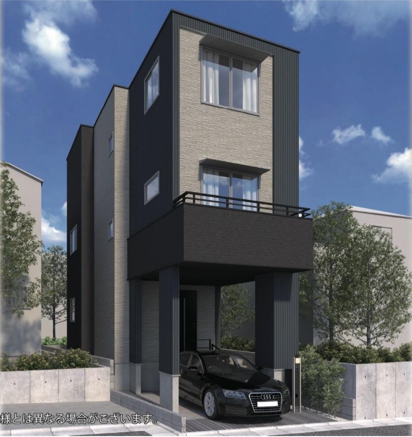 外観、さいたま市中央区新中里1丁目 新築戸建4480万円 <仲介手数料無料